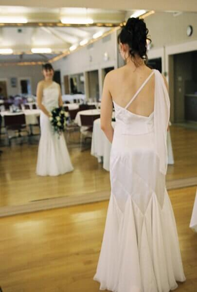 custom made wedding dress by Rebecca Wendlandt