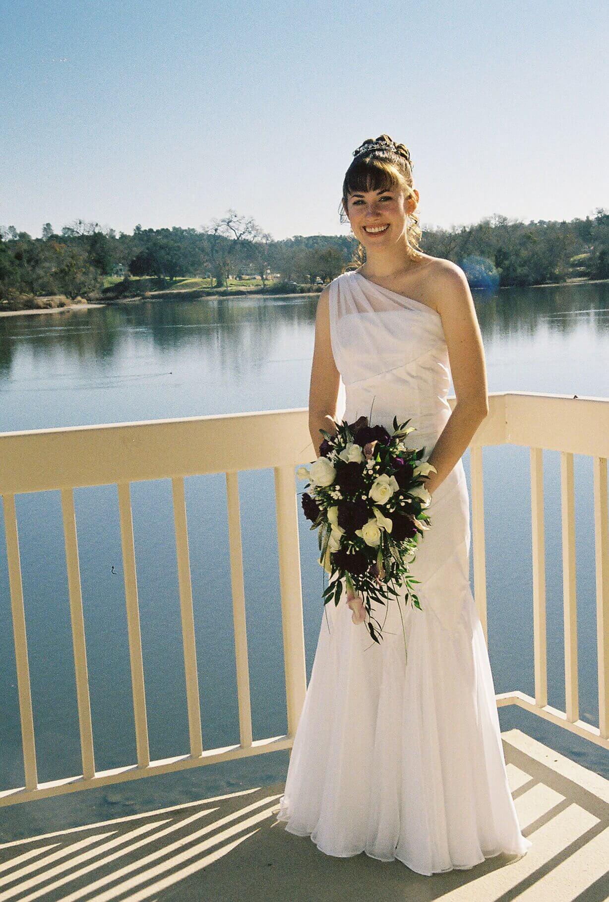 custom made wedding dress by Rebecca Wendlandt