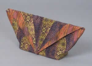 custom made clutch inspired from iridescent insects - by Rebecca Wendlandt
