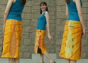 custom skirt inspired by insect designs - by Rebecca Wendlandt