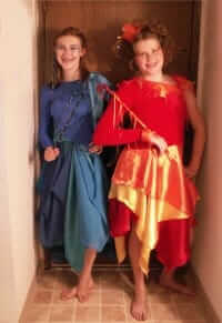 Halloween Costumes made via Sewing Lessons with Rebecca Wendlandt