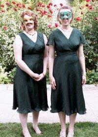 custom made bridesmaids dresses for Shareena by Rebecca Wendlandt