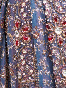 custom made sari inspired wedding dress for Shareena by Rebecca Wendlandt