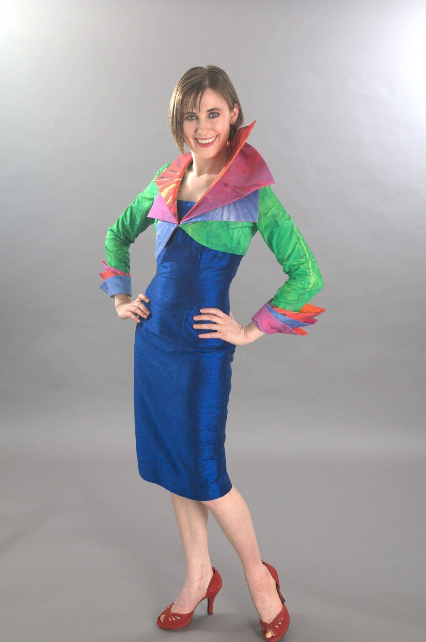 Wearable Art by Rebecca Wendlandt: Bird of Paradise Jacket - Front