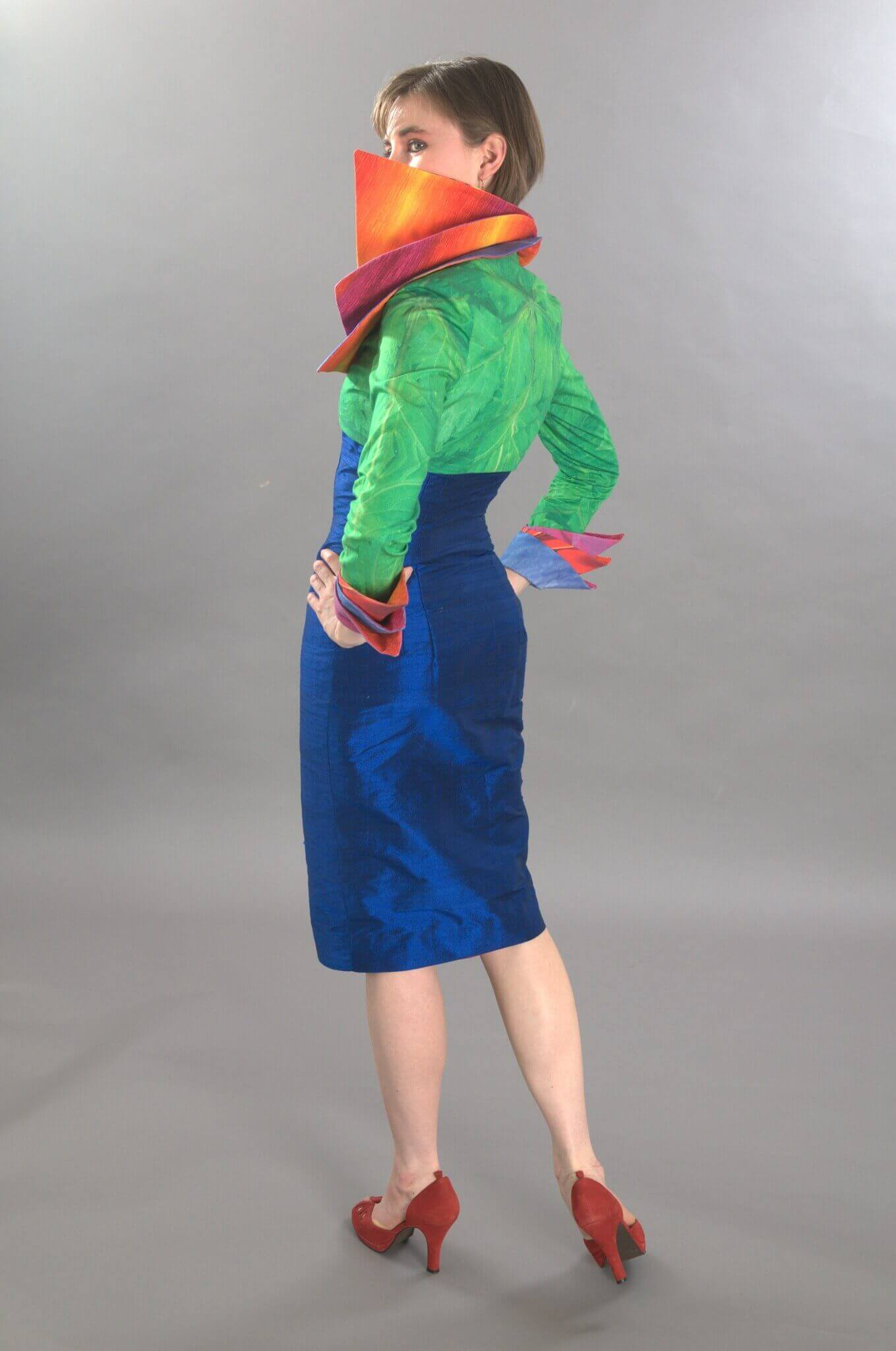Wearable Art by Rebecca Wendlandt: Bird of Paradise Jacket - Back