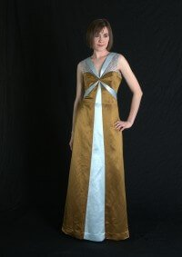 Evening Wear by Rebecca Wendlandt: Gold Evening Dress