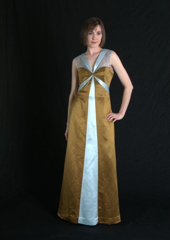 Evening Wear by Rebecca Wendlandt: Gold Evening Dress