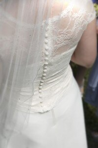alteration adding lace over wedding dress bodice - By Rebecca Wendlandt