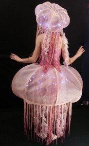 Wearable Art by Rebecca Wendlandt: Bella de la Mer - back light
