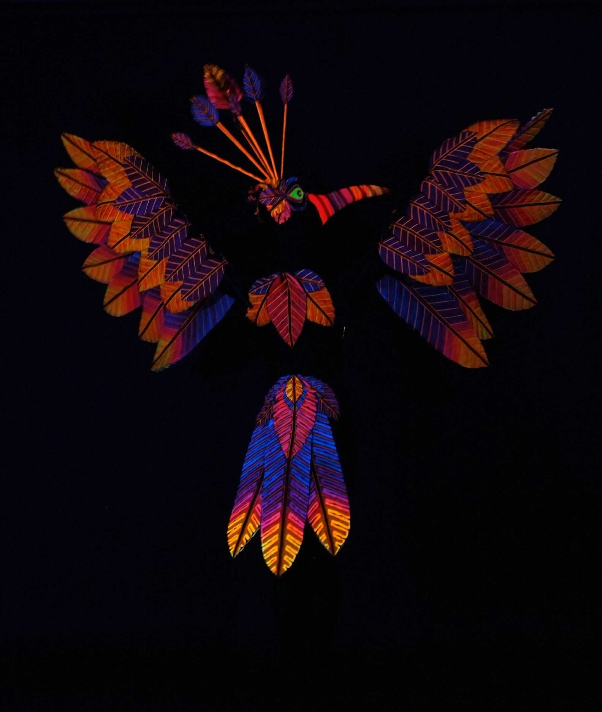 Blacklight Wearable Art by Rebecca Wendlandt: Flirty Phoenix