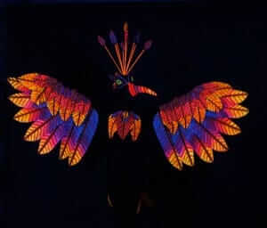 Blacklight Wearable Art by Rebecca Wendlandt: Flirty Phoenix