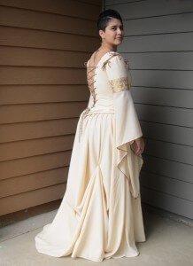 custom made wedding dress for Jenna by Rebecca Wendlandt