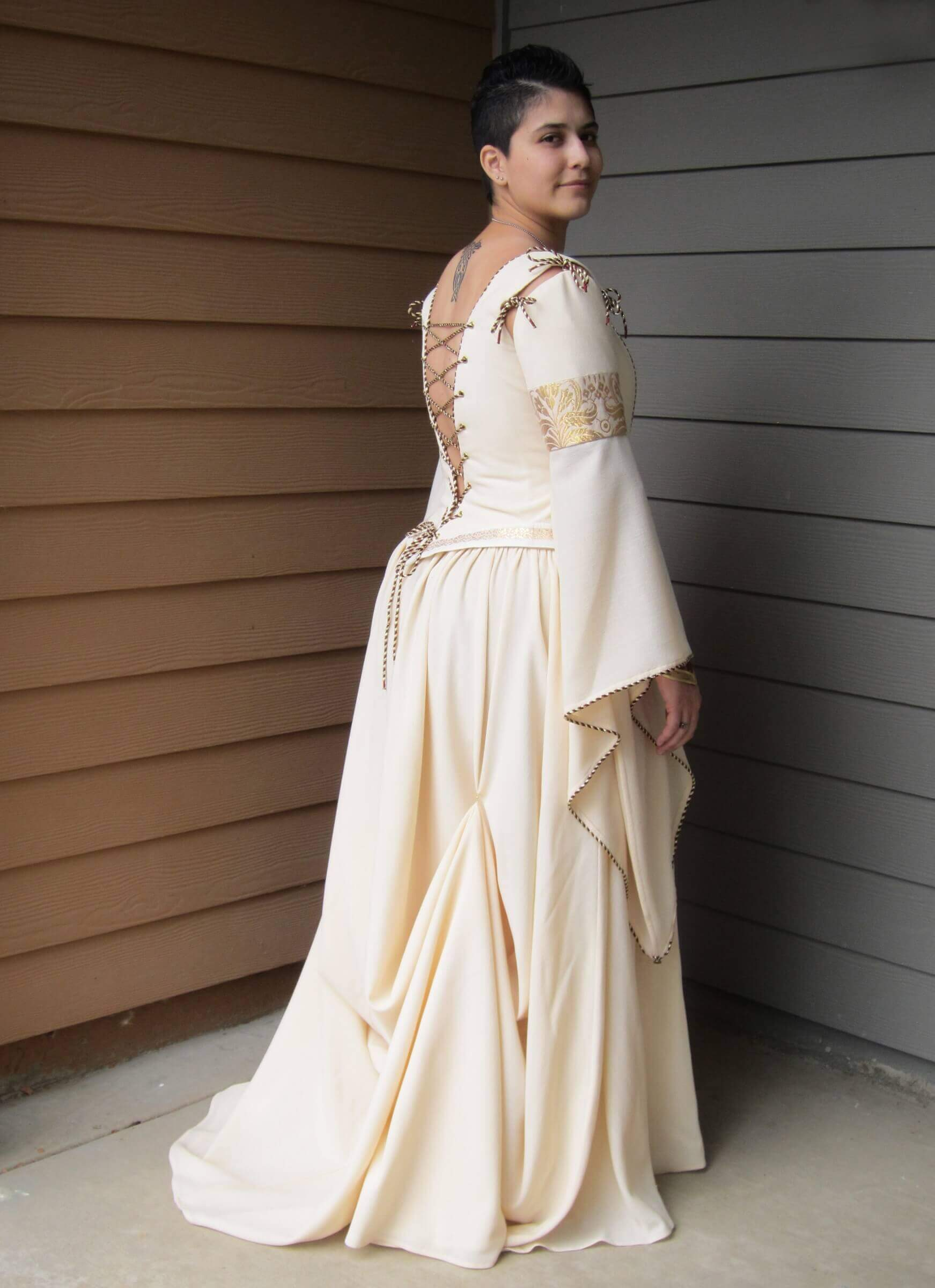 custom made wedding dress for Jenna by Rebecca Wendlandt