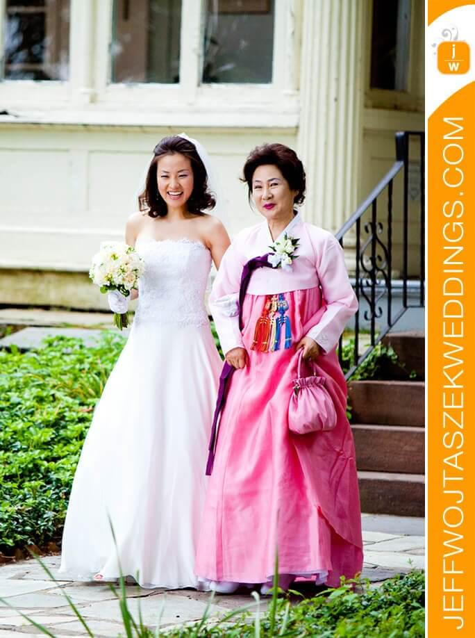 custom made wedding dress for Ji-eun by Rebecca Wendlandt