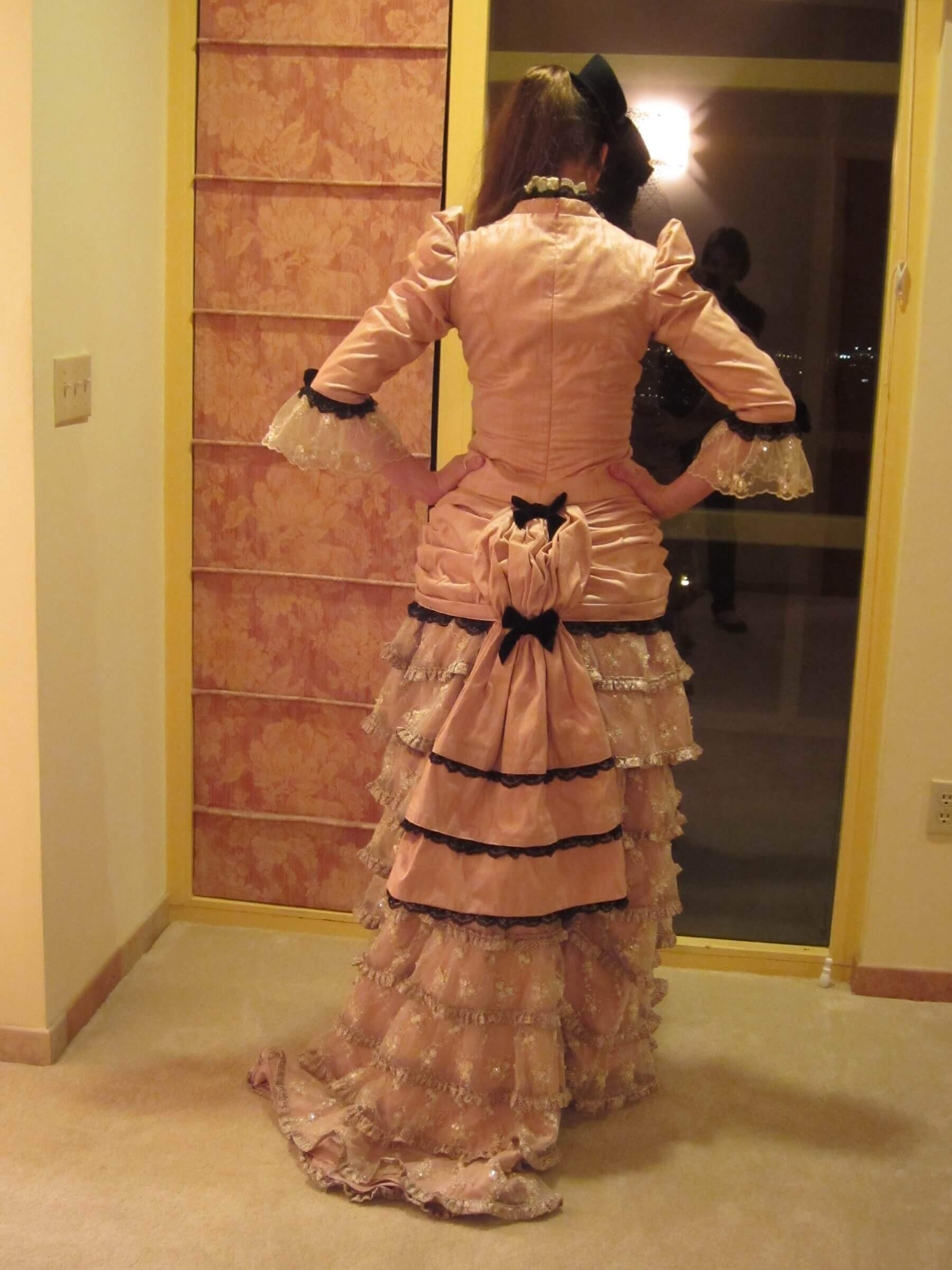 custom victorian costume for Lisa by Rebecca Wendlandt