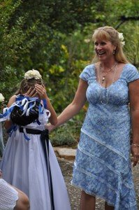 Custom wedding dress by Rebecca Wendlandt for Dori