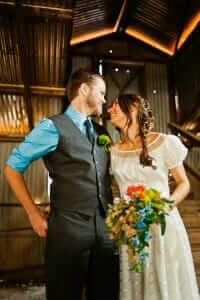 custom made wedding dress for Jamie by Rebecca Wendlandt