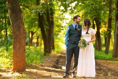 custom made wedding dress for Jamie by Rebecca Wendlandt