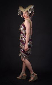 Wearable Art made with Recycled Materials by Rebecca Wendlandt: Nefertiti's Sonata