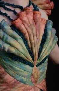Wearable Art by Rebecca Wendlandt: Dinobryon Mystic - Back