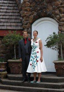 custom wedding dress for Whitney by Rebecca Wendlandt