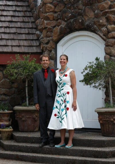 custom wedding dress for Whitney by Rebecca Wendlandt