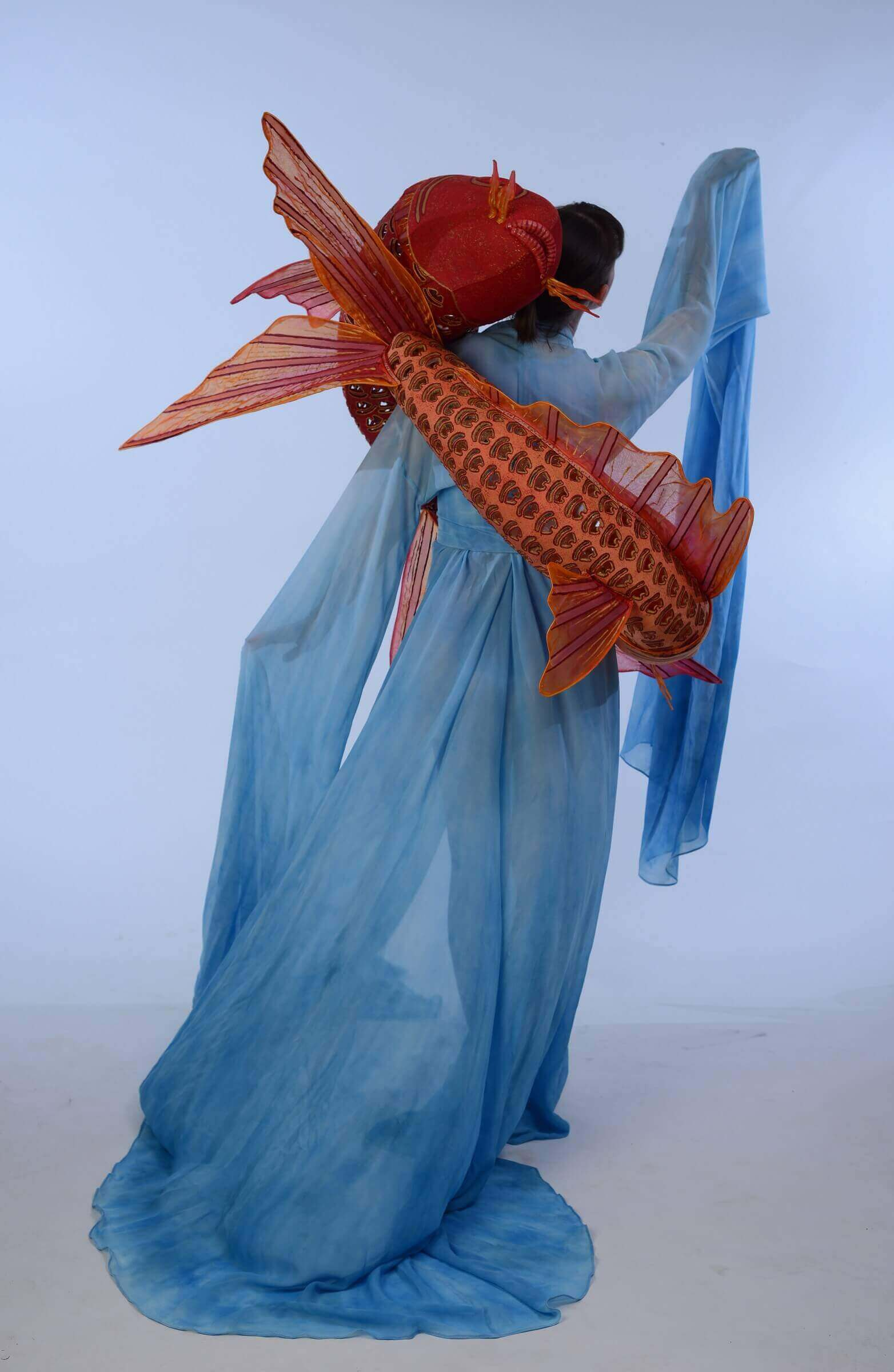 Wearable Art by Rebecca Wendlandt: Water Dancers - Back