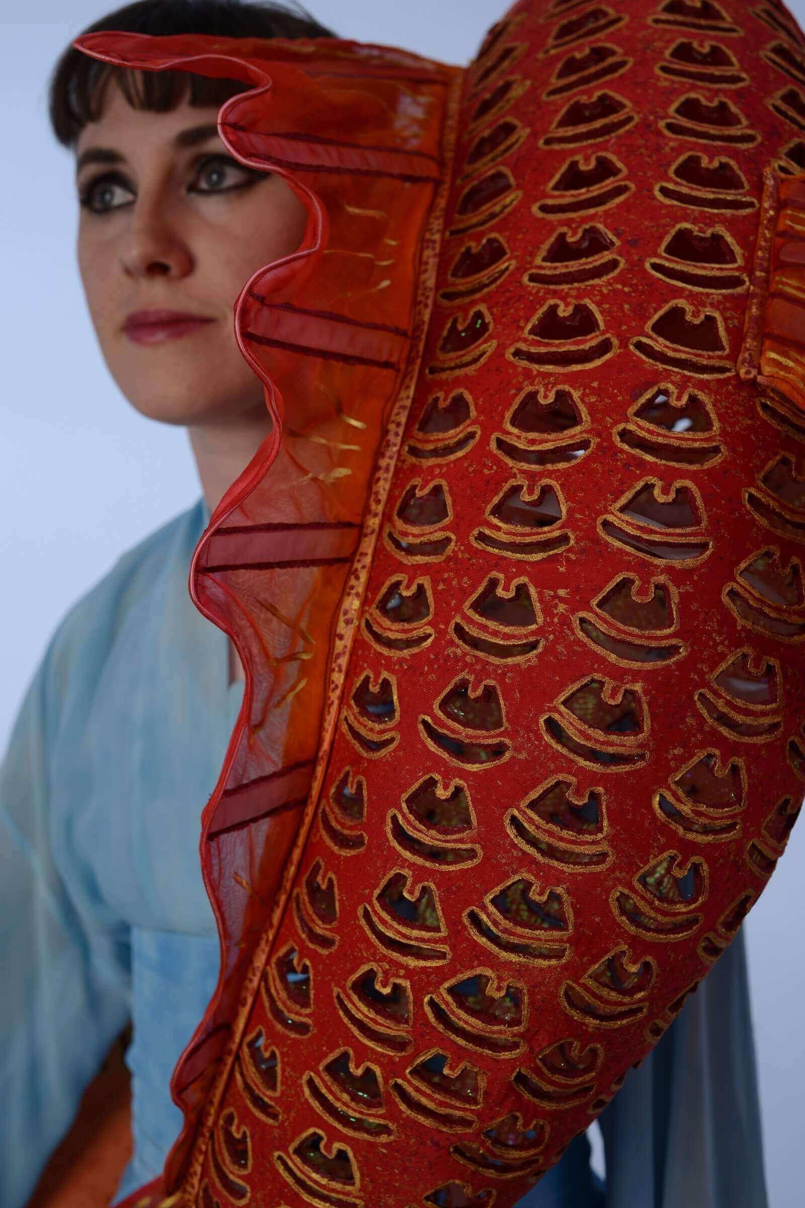 Wearable Art by Rebecca Wendlandt: Water Dancers - Detail