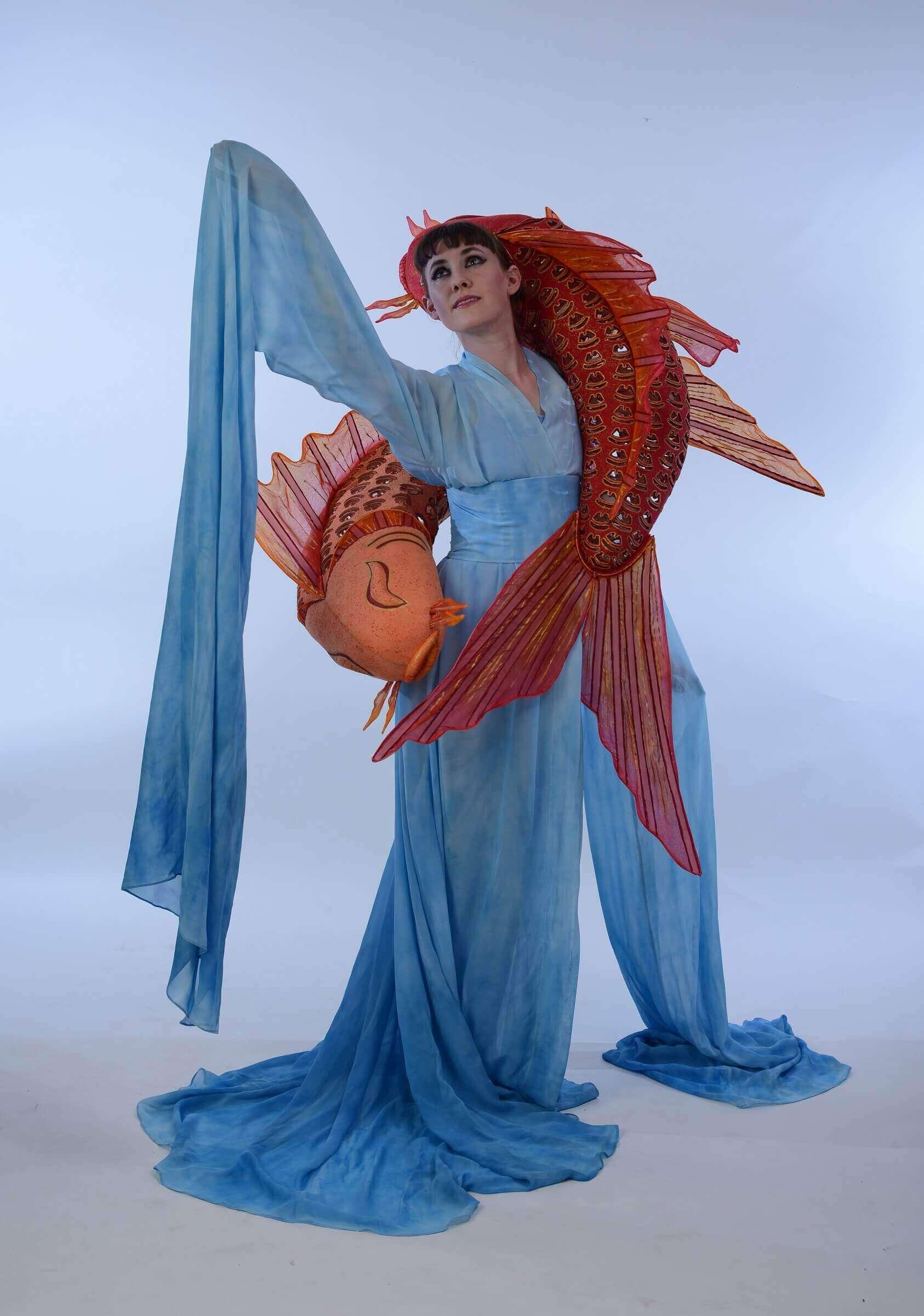 Wearable Art by Rebecca Wendlandt: Water Dancers - Front