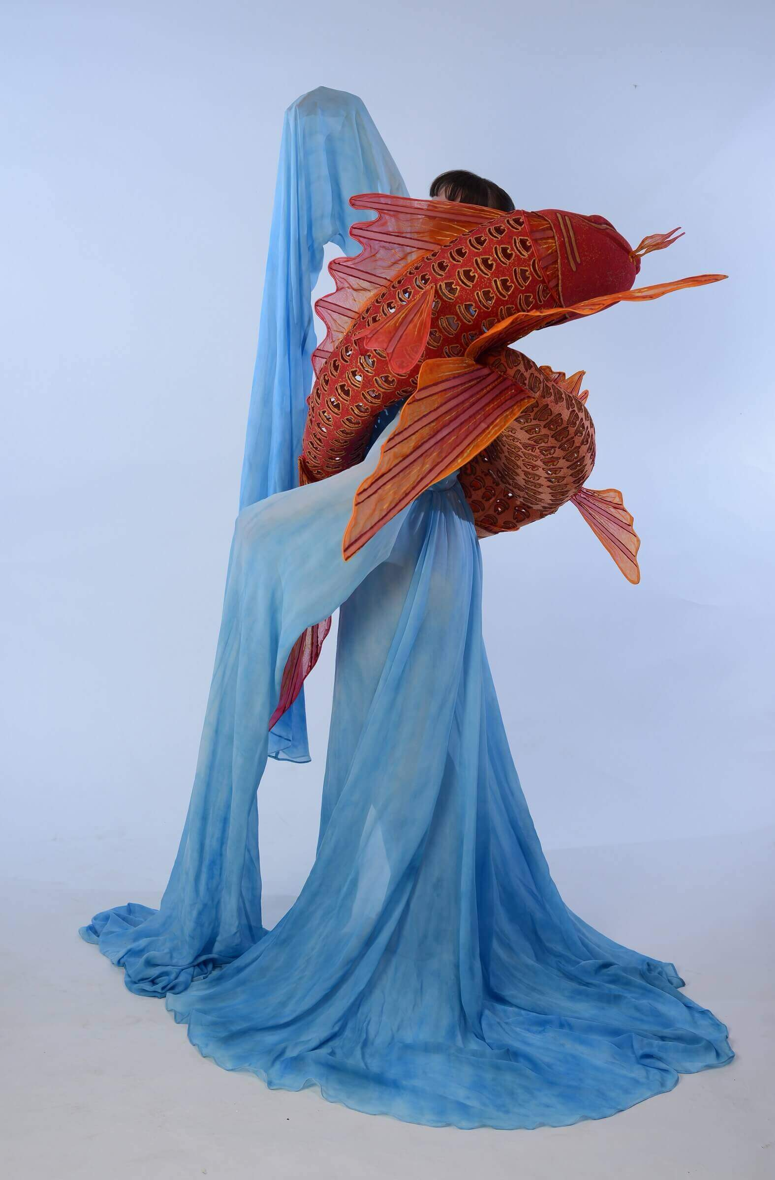 Wearable Art by Rebecca Wendlandt: Water Dancers - Left Side