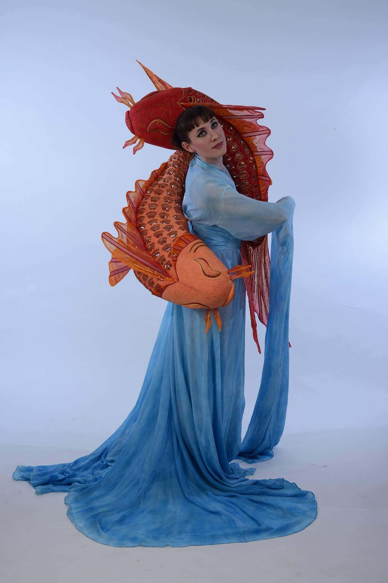 Wearable Art by Rebecca Wendlandt: Water Dancers - Right Side