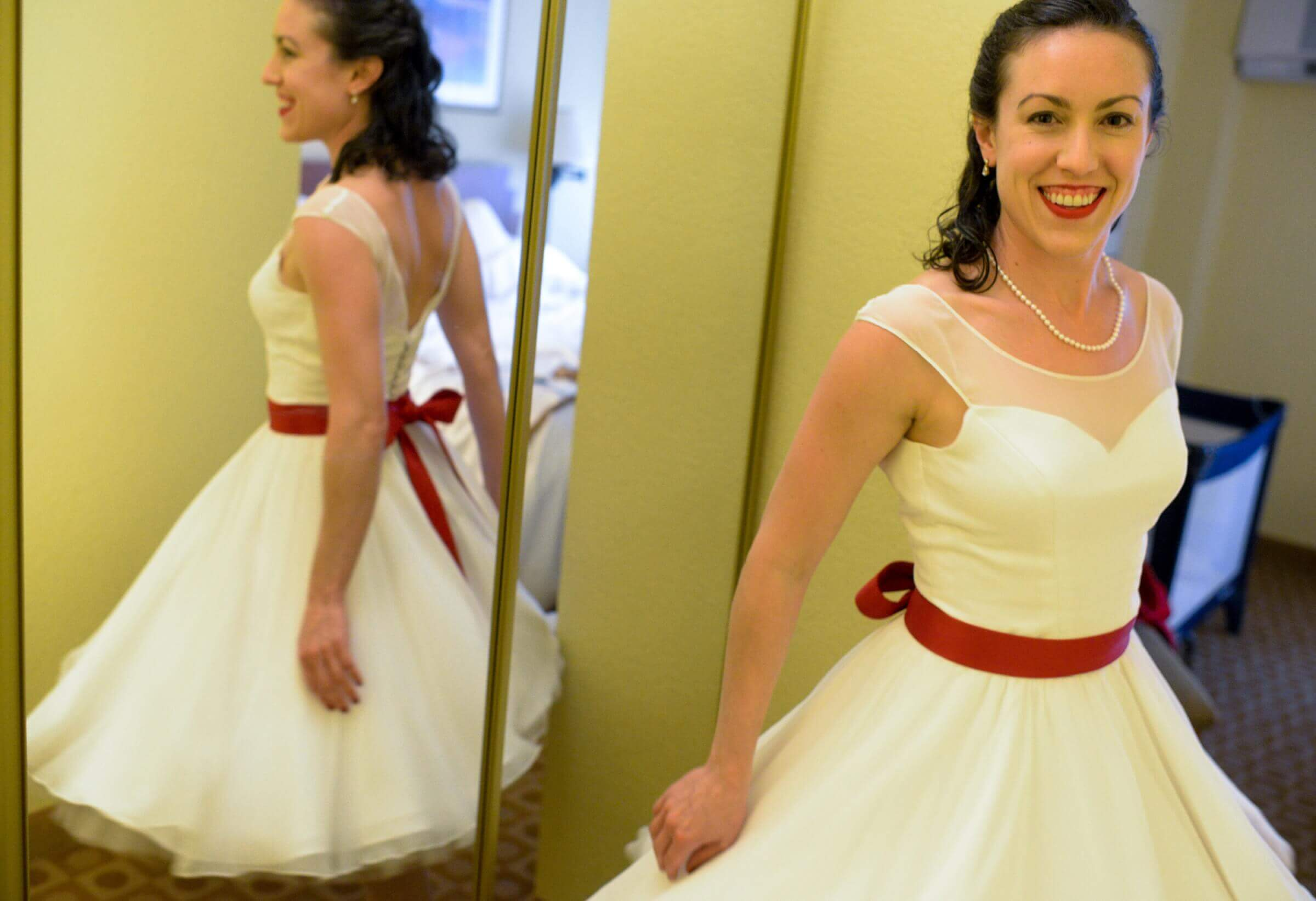 custom wedding dress for Emily by Rebecca Wendlandt