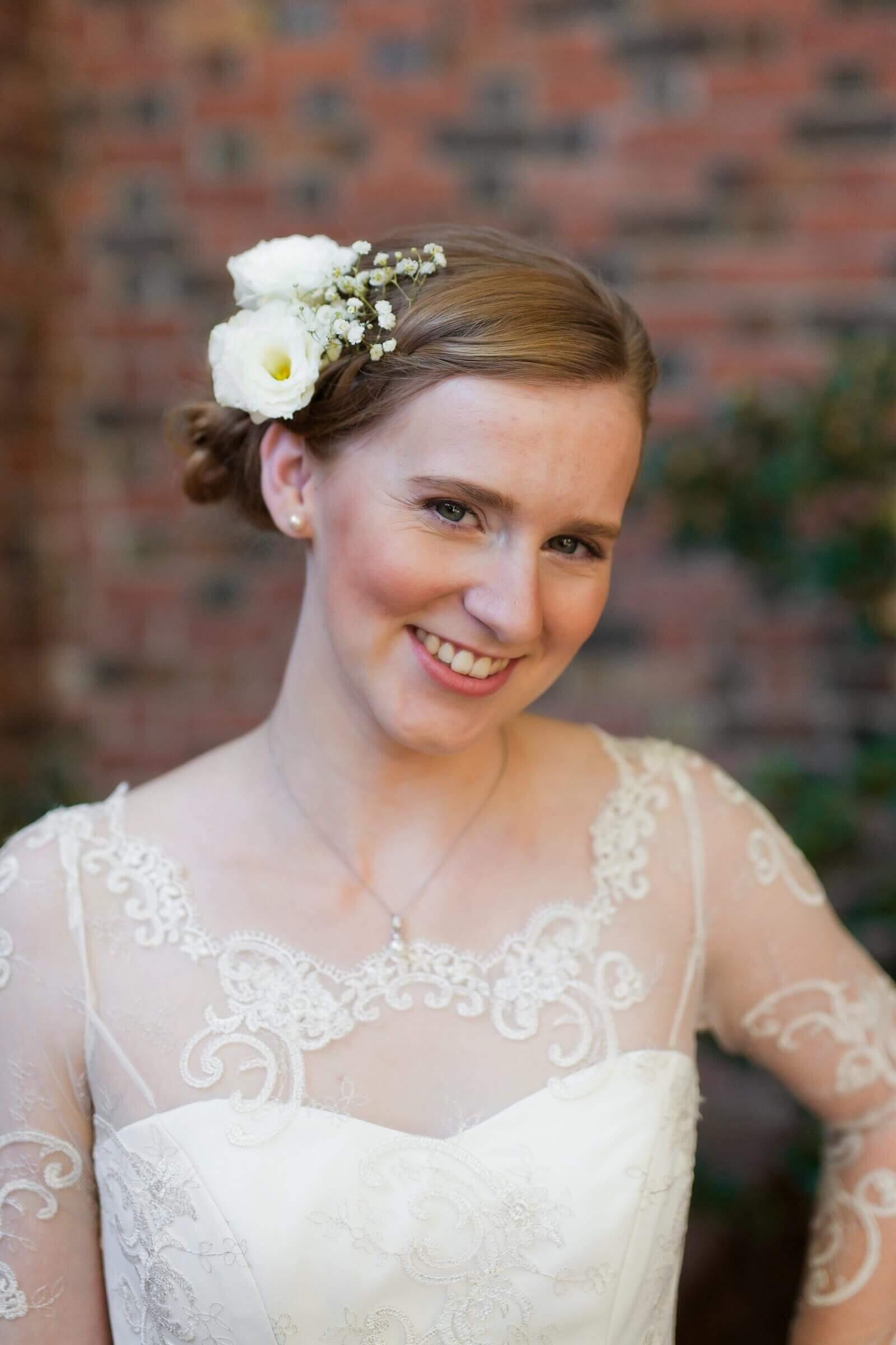 custom wedding dress for Esther by Rebecca Wendlandt