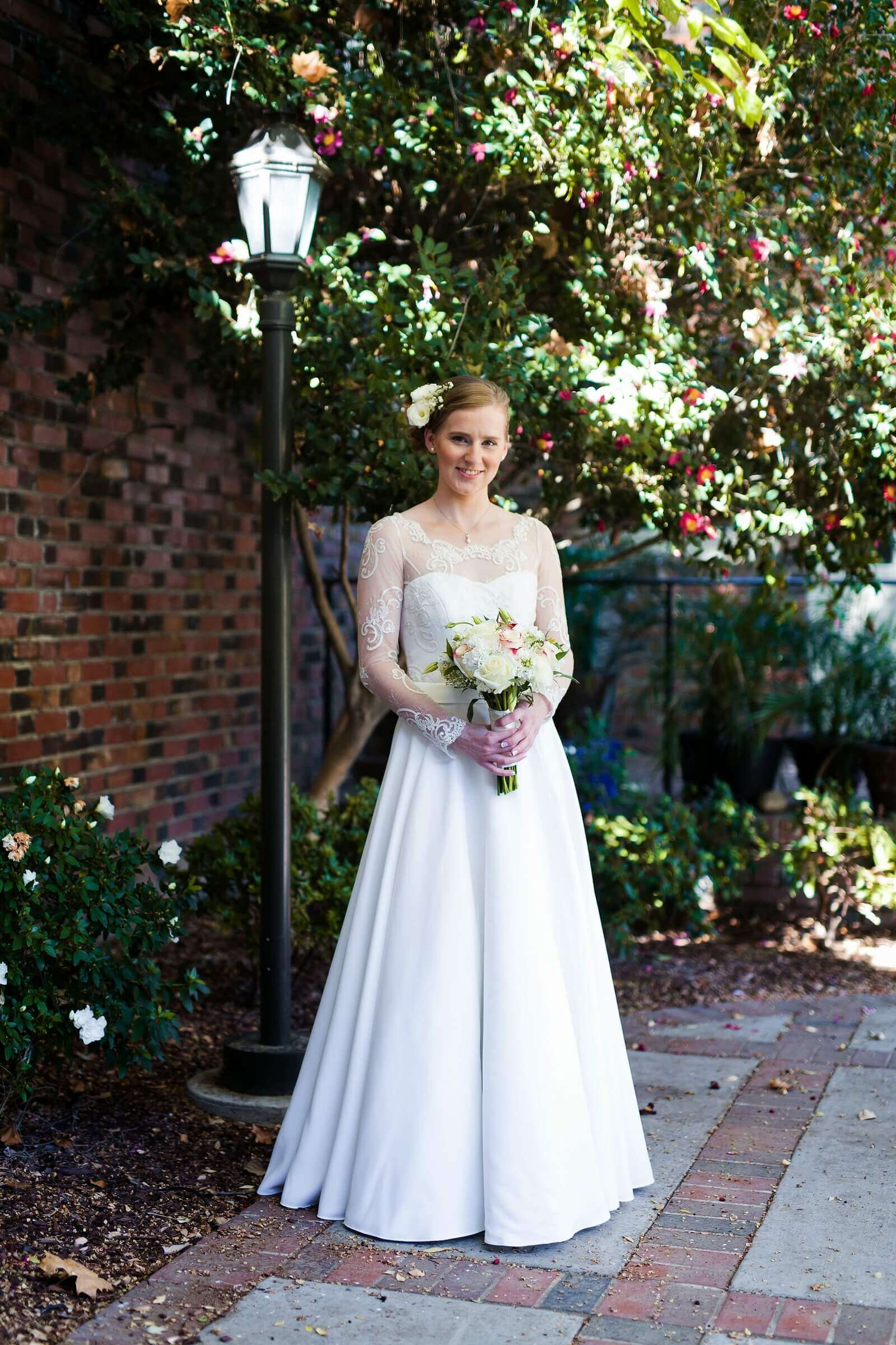custom wedding dress for Esther by Rebecca Wendlandt