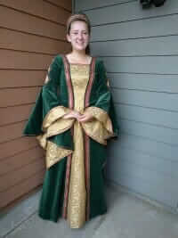 custom made Renaissance inspired costumes for the Davis Madrigal Singers high school chamber choir - sewn by Rebecca Wendlandt