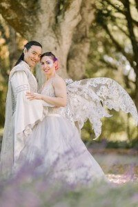 custom designed Elven wedding robe for Danny by Rebecca Wendlandt