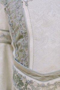 custom designed Elven wedding robe for Danny by Rebecca Wendlandt