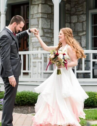 Custom Silk Wedding Dress